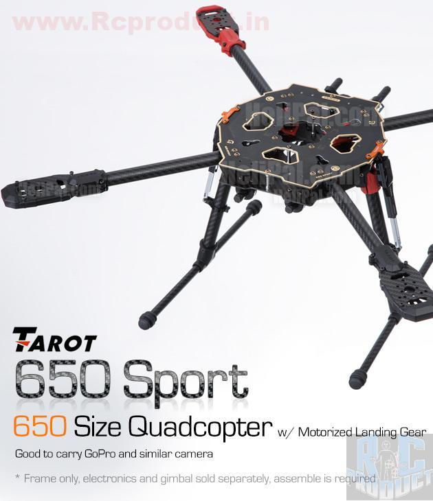 Tarot FY650 Sport Carbon Fiber Quadcopter Kit – Motorized